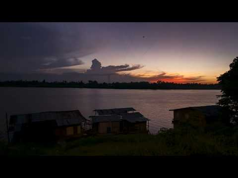 Kota Bharu riverside sunset timelapse