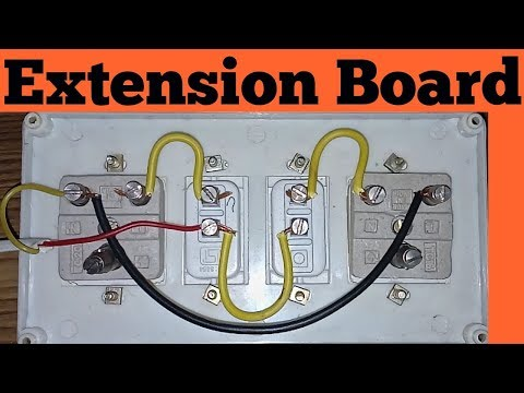 Extension Board Wiring Connection In Hindi Youtube
