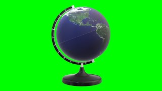 Copyright Free 3d Animated Globe Green Screen Effect | Chroma Key | Royalty Free |