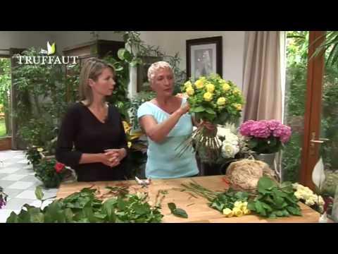 Art floral cr er un bouquet rond simple jardinerie truffaut tv youtube - Creer un bouquet de fleur ...