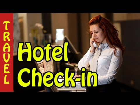 Hotel check in procedure - process- hotel check in basic english for communication