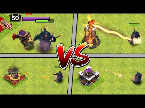 LEVEL 7 PEKKA vs ALL DEFENCES! Clash of Clans Update - CoC Max PEKKA Attacks 2018!