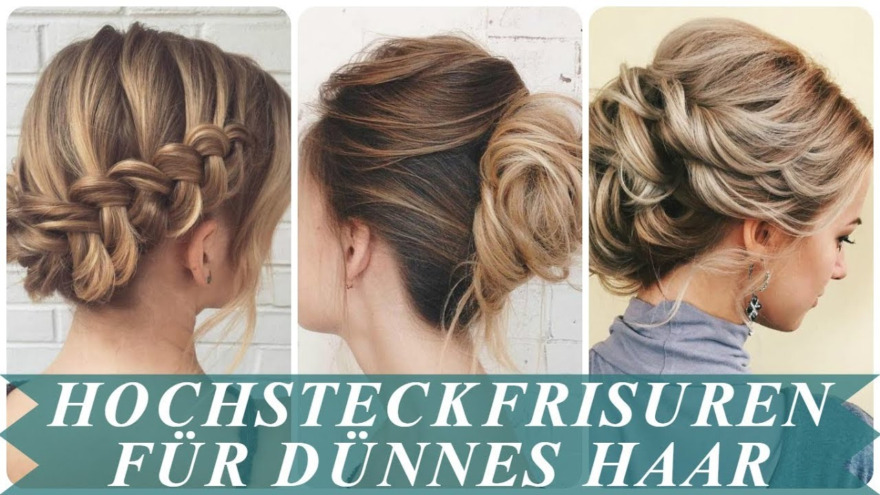 Hochsteckfrisuren Dunnes Schulterlanges Haar Haarschnitte Beliebt