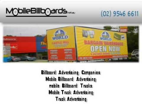 Mobile Billboards Sydney Australia