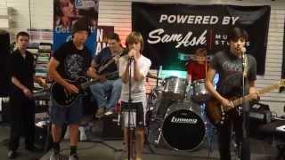 Zero2Sixty @ Sam Ash Open Mic 6/24/2015 Whole Lotta Rosie - The Trooper - Rock Bottom #samashjam