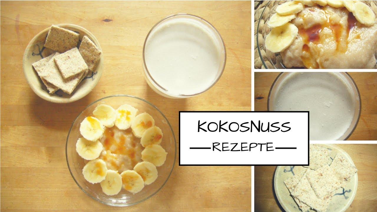 Vegane Rohkost: Milch, Kekse und Grießbrei aus einer halben Kokosnuss herstellen!!