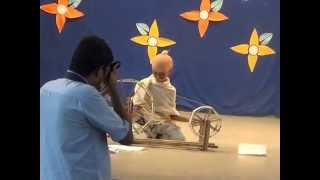A.SANJITH VIDEO AS GANDHIJI 1st Prize Winner FANCY DRESS COMPETITION IN CLASS III