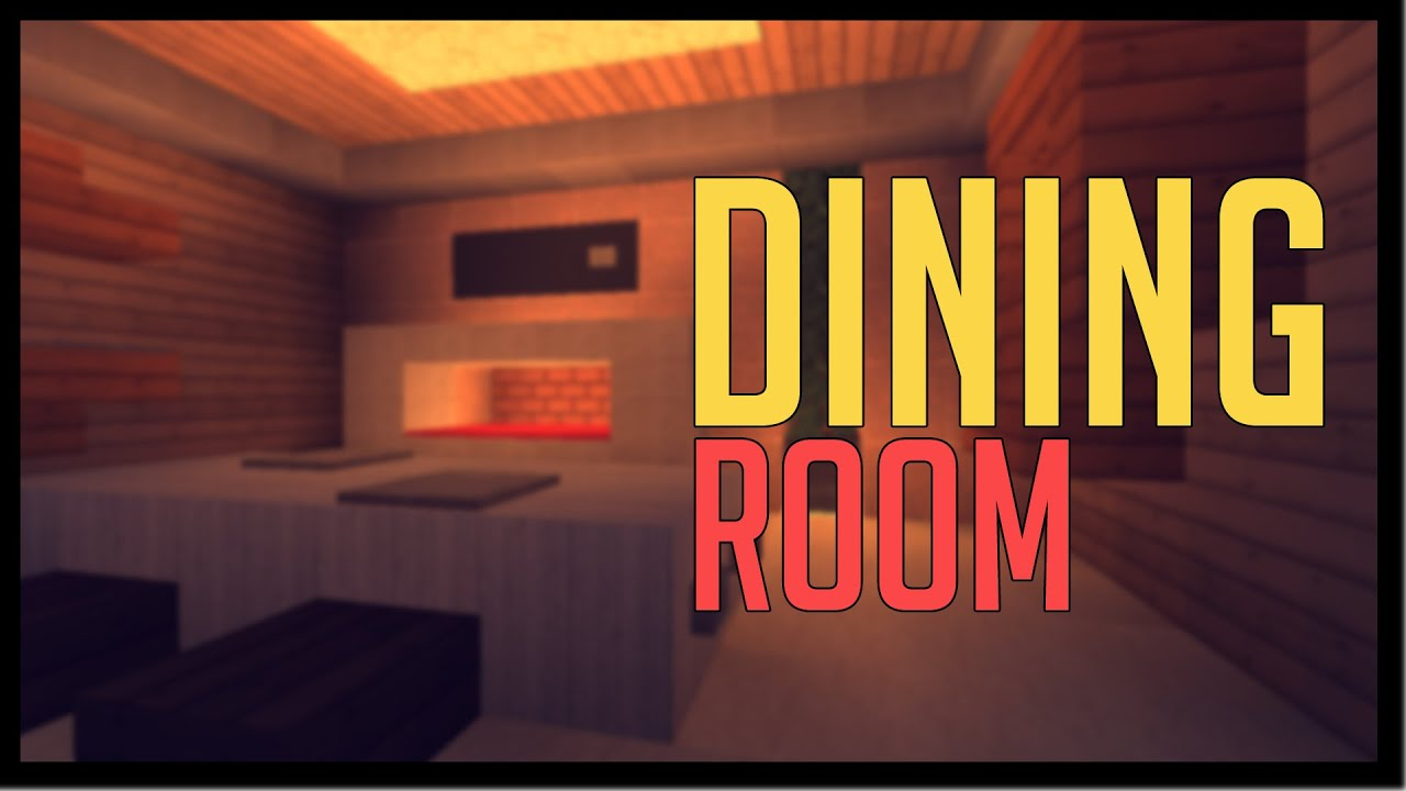 Minecraft modern designs dining room youtube for Minecraft dining room designs