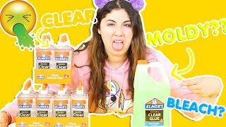 ELMERS CLEAR GLUE GALLON IS TOXIC? Clear glue bottles vs clear glue gallon | Slimeatory #292