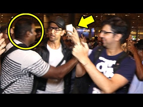 Thumbnail: Hrithik Roshan Gets ANGRY On Bodyguard For Misbehaving With FAN Trying To Talke A Selfie