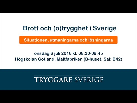 Brott och (o)trygghet i Sverige