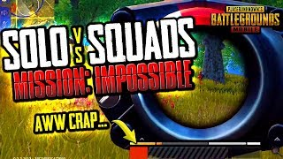 MISSION IMPOSSIBLE: SOLO vs. SQUADS + PLAYS OF THE WEEK (PUBG Mobile)