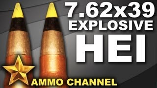 AMMOTEST: 7.62x39 HEI High Explosive Incendiary ammo AK 47 SKS WASR-10