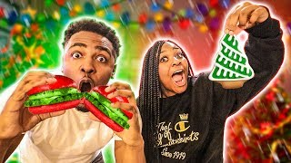 eating-only-christmas-food-for-24-hours-challenge-vlogmas-day-7