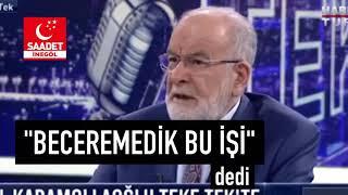 Temel Karamollaoğlu Fatih Altaylı akp teklifi, saadet e teklif