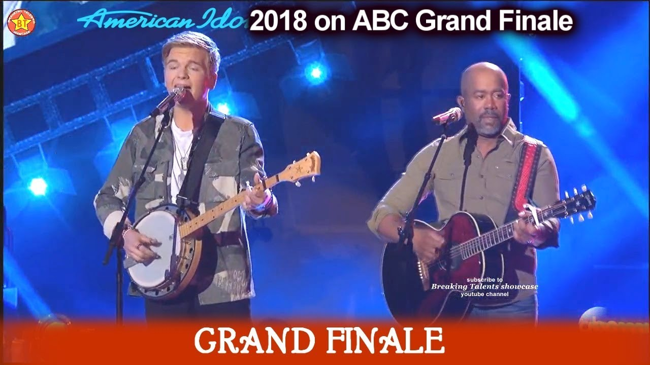 "Caleb Lee Hutchinson and Darius Rucker Duet ""Wagon Wheel""   American Idol 2018  Grand Finale"