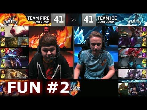 Ice vs Fire fun (troll) Show Match 2 - Bjergsen Heimerdinger vs Mouse Kled | LoL All-Star 2016 Day 4