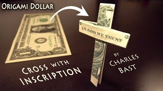 """One Dollar Cross with """"IN GOD WE TRUST"""" Inscription"""