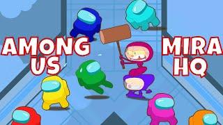 Mongo e Drongo em Among Us Mira HQ - paródia de Among US Mira HQ em desenho animado