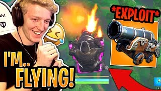 """Tfue Shows *NEW* """"Flying"""" Cannon Rotation Meta! (EXPLOIT) - Fortnite Best and Funny Moments"""
