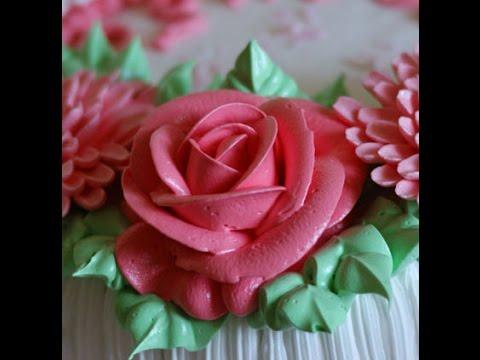 Кремовая роза. насадка 123 -