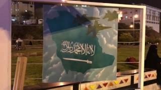بالصور والفيديو.. فنانة تشكيلية في شارع الفن ترغب في إيصال هديتها إلى فيصل بن خالد