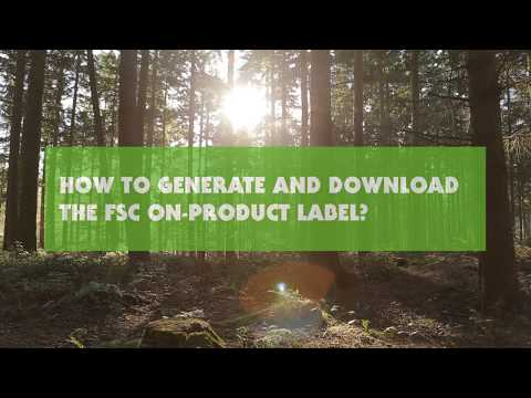 How to Generate and Download Your FSC On-Product Label