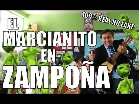 Cumbia del Marcianito en Zampoña con Notas