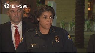 Phoenix law enforcement officials address rally violence