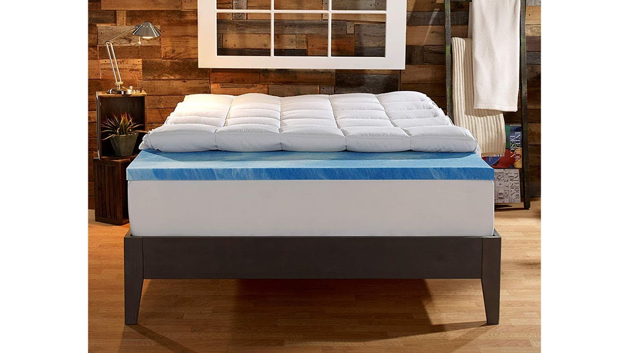 Sleep Innovations Gel Memory Foam 4 Inch Dual Layer Mattress