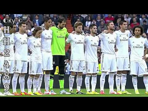 Real Madrid vs Osasuna 4-0 →TITO VILANOVA Minuto Silencio← Real Madrid 4:0 Osasuna ~ 26.04.2014