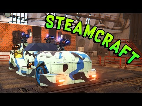 Steamcraft - Steampunk Meets Crossout Meets Robocraft (Steamcraft Gameplay - Vehicle Builder)