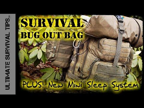 NEW! Survival Bug Out Bag – BASIC – 22 lb / 10 kg +Experimental 3 Season Mini Sleep System – Best