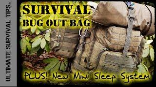 NEW! Survival Bug Out Bag - BASIC - 22 lb / 10 kg +Experimental 3 Season Mini Sleep System - Best