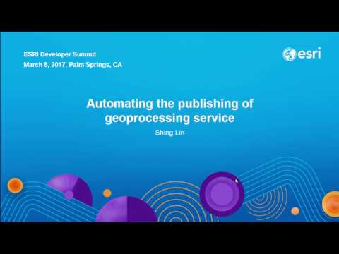 Python: Automating the Publishing of Geoprocessing Services