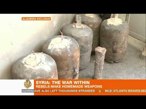 Syria's war of homemade weapons