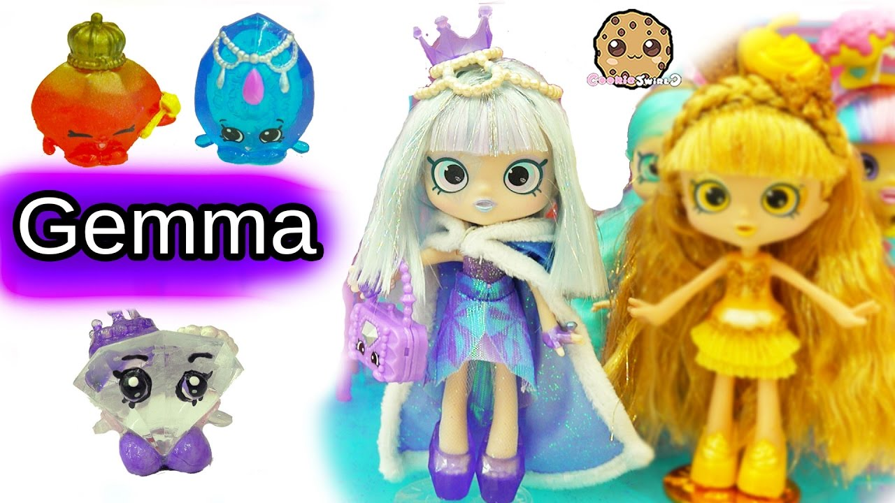 Special Edition Limited Gemma Stone Shoppies Doll With Exclusive Shopkins Surprise Blind Bags Youtube