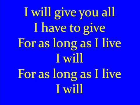 I Will By Billy Gilman