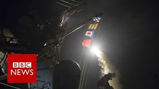 Syria war: US launches missile strikes in response to 'chemical attack' - BBC News