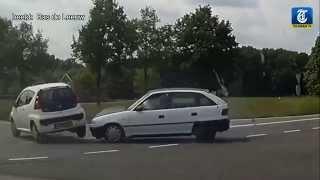 Wegpiraat veroorzaakt heftig ongeval