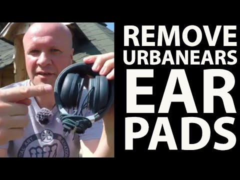 How to remove ear pads Urbanears Plattan 2 Headphones - to clean or replace