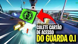 COLETE UM CARTÃO DE ACESSO DE UM GUARDA O.I - DESAFIOS LENDARIOS SEMANA 8 FORTNITE