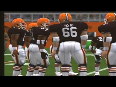 Madden NFL 2001 1980 Detroit Lions vs 1986 Cleveland Browns