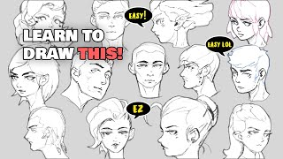 HOW TO DRAW SIṀPLE FACES (easy)