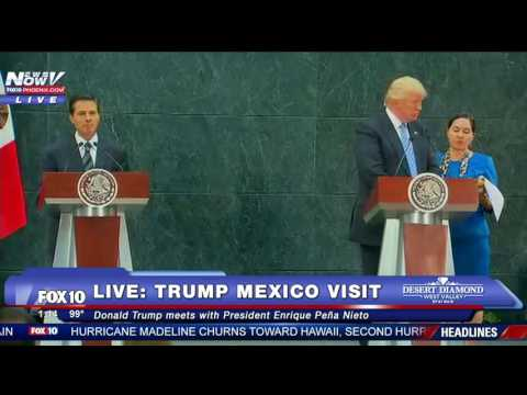 FNN: Donald Trump Meets Mexican President, Gives BIG Immigration Speech in Arizona
