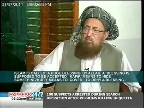 Kirsten Seymour interviews Mullah Omar's teacher, Maulana Sami ul Haq