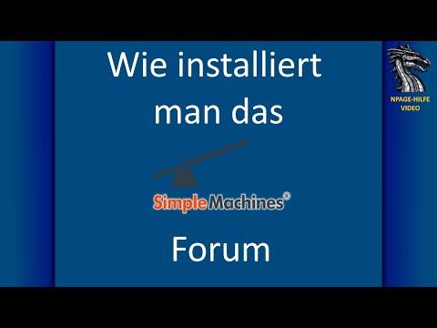 Install Simple Machines Forum (SMF) [deutsch]