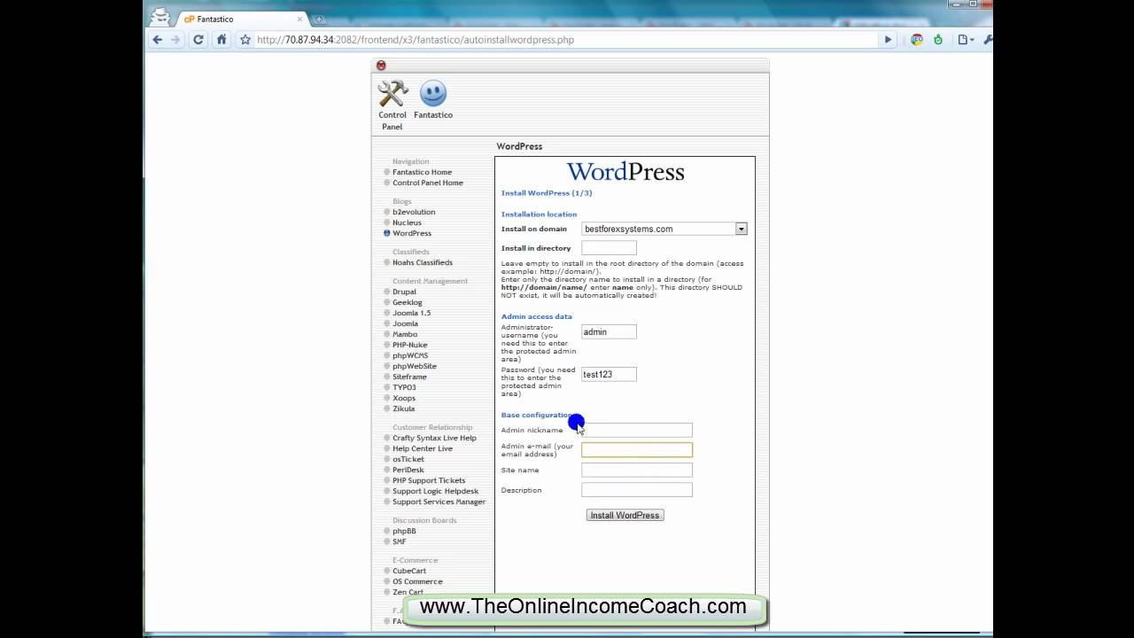 how to install wordpress template in cpanel - how to install wordpress on host gator cpanel part 1