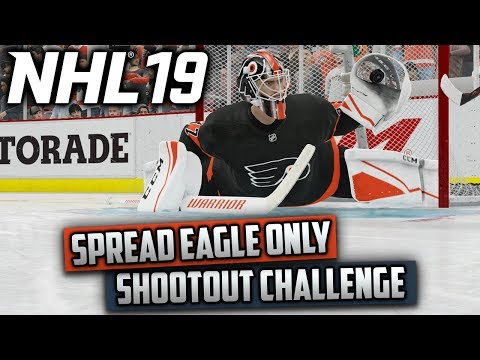 Can I Win A Shootout Using Only the Spread Eagle? NHL 19 Challenge