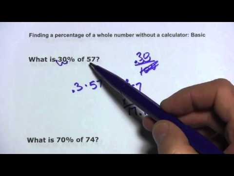 Finding Percentage Of Whole Number Without Calculator